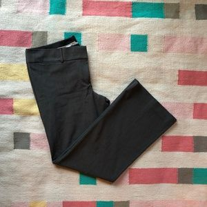LOFT Marissa Trouser gray unlined work pants 14